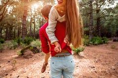 Couple having piggyback Royalty Free Stock Photography