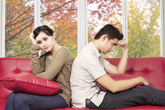 Couple having problem at home Stock Photo