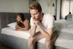 Couple having problems in relationship. Due to infidelity Stock Image