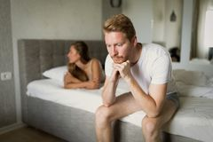 Couple having problems in relationship. Due to infidelity Stock Images