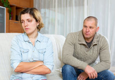 Couple having quarrel at home Royalty Free Stock Photo