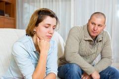 Couple having quarrel at home Royalty Free Stock Photo