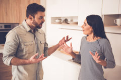Couple having a quarrel stock photo