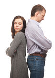 Couple having relationship difficulties Royalty Free Stock Photo