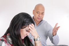 Couple having relationship difficulties Royalty Free Stock Photos
