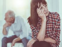 Couple having relationship problems royalty free stock image