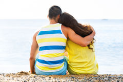 Couple having romantic date Stock Images