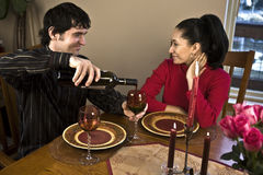 Couple having a Romantic dinner Stock Image