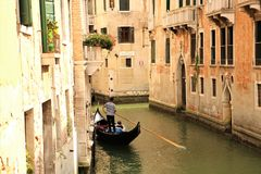 Gondola ride in Venice Royalty Free Stock Images