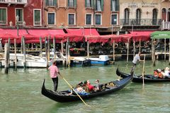 Gondola ride in Venice Royalty Free Stock Photos