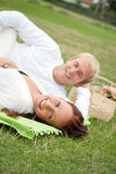 Couple having a romantic picnic Stock Photo