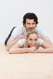 Couple having some fun relaxing together. Young couple having some fun relaxing together Stock Photo