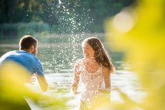 Couple having summer fun Stock Image