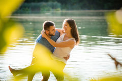 Couple having summer fun Royalty Free Stock Image