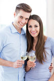 Couple having toast Stock Photo