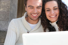 Couple having a video conference Royalty Free Stock Image