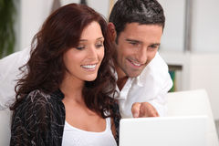 Couple having a video conference Royalty Free Stock Photo