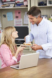 Couple Having Working Lunch In Home Office Together Royalty Free Stock Photography