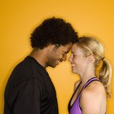 Couple with head together. Royalty Free Stock Photography