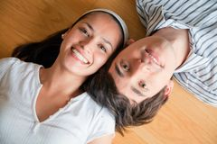 Couple with heads together Stock Images