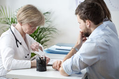 Couple with health problems Stock Photography