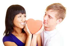 Couple with heart Stock Photo