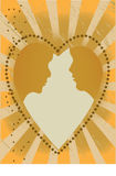 Couple in a heart Royalty Free Stock Photos