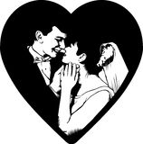 Couple in a heart Stock Photo
