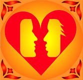 Couple in Heart ! Stock Images