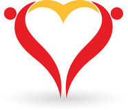 Couple heart Royalty Free Stock Images