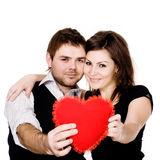 Couple with heart Royalty Free Stock Photo