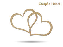 Couple heart Stock Image