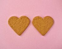 A couple of heart shaped cookies Stock Photo
