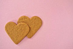 A couple of heart shaped cookies Stock Photography