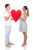 Couple heart symbol Royalty Free Stock Photography