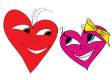Couple of hearts stock illustration