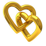 Couple of hearts 3d Royalty Free Stock Photo
