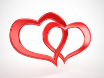Couple hearts Stock Image
