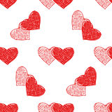 Couple of hearts pattern Stock Photography