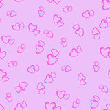 Couple of Hearts Random Seamless Pattern Royalty Free Stock Images