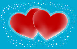 Couple hearts Stock Images