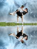 Couple from heaven. A mistic couple in love Royalty Free Stock Images