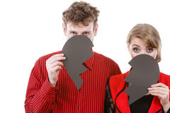 Couple hiding their faces. Royalty Free Stock Photography