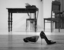 High-heels waiting for her Stock Photography
