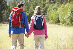 Couple On Hike In Beautiful Countryside Royalty Free Stock Photo