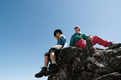 Couple hiking Stock Image