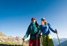 Couple hiking Royalty Free Stock Photo