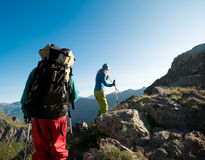 Couple hiking Royalty Free Stock Photography