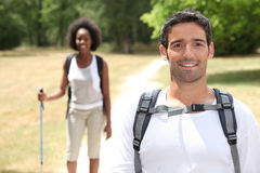Couple hiking Royalty Free Stock Images