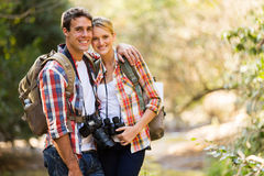 Couple hiking mountain Royalty Free Stock Photo